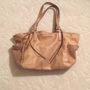 Buttery beige leather purse